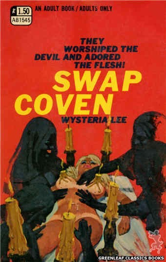 Adult Books AB1545 - Swap Coven by Wysteria Lee, cover art by Ed Smith (1970)