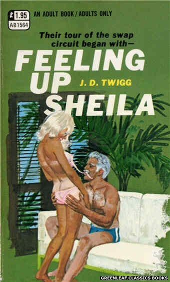 Adult Books AB1564 - Feeling Up Sheila by J.D. Twigg, cover art by Robert Bonfils (1971)