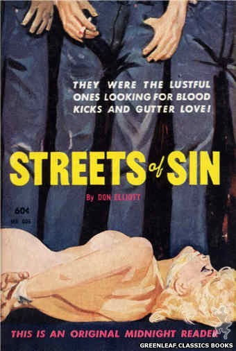 Midnight Reader 1961 MR406 - Streets Of Sin by Don Elliott, cover art by Harold W. McCauley (1961)
