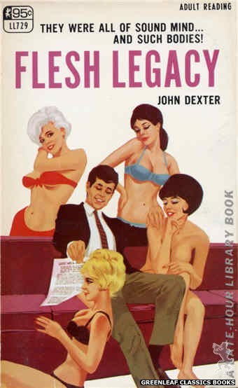 Late-Hour Library LL729 - Flesh Legacy by John Dexter, cover art by Darrel Millsap (1967)