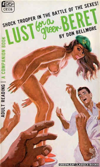 Companion Books CB536 - Lust For A Green Beret by Don Bellmore, cover art by Robert Bonfils (1967)