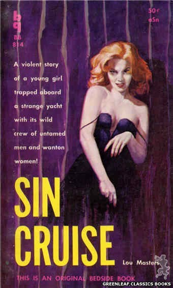 Bedside Books BB 814 - Sin Cruise by Lou Masters, cover art by Robert Maguire (1959)