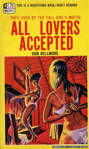 Nightstand Books NB1911 - All Lovers Accepted by Don Bellmore, cover art by Tomas Cannizarro (1968)