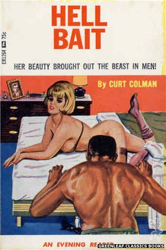 Evening Reader ER1264 - Hell Bait by Curt Colman, cover art by Tomas Cannizarro (1966)