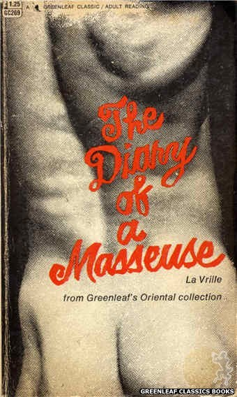 Greenleaf Classics GC269 - The Diary of a Masseuse by La Vrille, cover art by Photo Cover (1967)