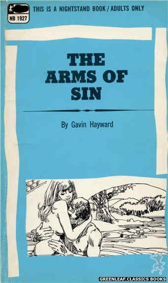 Nightstand Books NB1927 - The Arms Of Sin by Gavin Hayward, cover art by Harry Bremner (1969)