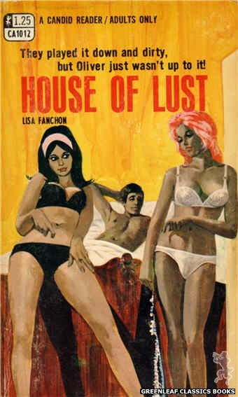 Candid Reader CA1012 - House Of Lust by Lisa Fanchon, cover art by Darrel Millsap (1970)