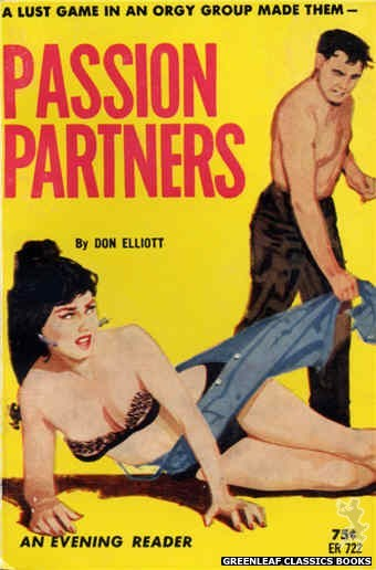 Evening Reader ER722 - Passion Partners by Don Elliott, cover art by Unknown (1964)