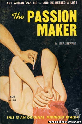 Midnight Reader 1961 MR434 - The Passion Maker by Jeff Stewart, cover art by Harold W. McCauley (1962)