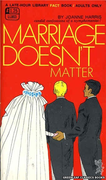 Late-Hour Library LL803 - Marriage Doesn't Matter by Joanne Harris, cover art by Unknown (1969)