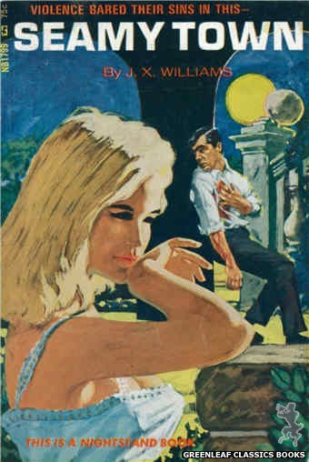 Nightstand Books NB1799 - Seamy Town by J.X. Williams, cover art by Darrel Millsap (1966)