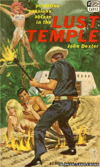 Candid Reader CA913 - Lust Temple by John Dexter, cover art by Robert Bonfils (1968)