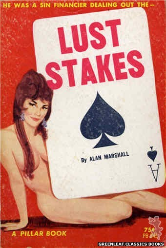 Pillar Books PB845 - Lust Stakes by Alan Marshall, cover art by Unknown (1964)