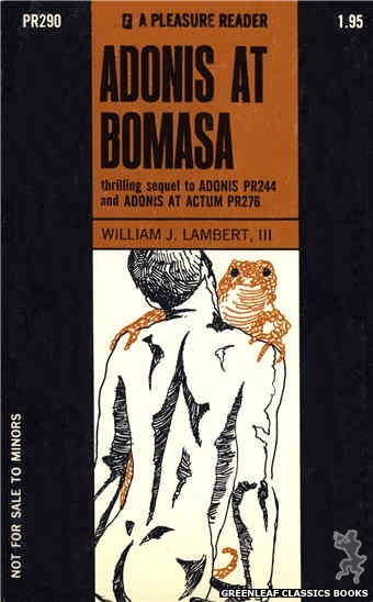 Pleasure Reader PR290 - Adonis At Bomasa by William J. Lambert, III, cover art by Unknown (1970)