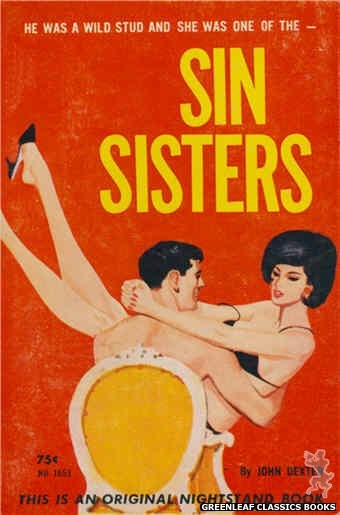 Nightstand Books NB1653 - Sin Sisters by John Dexter, cover art by Unknown (1963)
