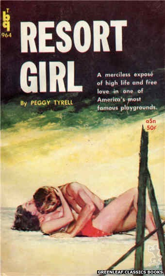 Bedside Books BTB 964 - Resort Girl by Peggy Tyrell, cover art by Unknown (1960)