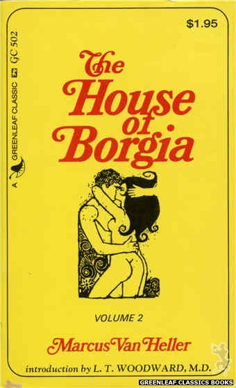 Greenleaf Classics GC502 - The House Of Borgia Volume 2 by Marcus Van Heller, cover art by Unknown (1974)