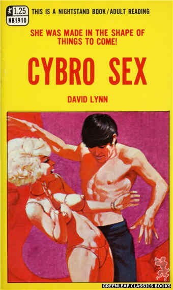 Nightstand Books NB1910 - Cybro Sex by David Lynn, cover art by Darrel Millsap (1968)