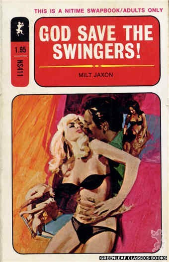 Nitime Swapbooks NS411 - God Save The Swingers! by Milt Jaxon, cover art by Darrel Millsap (1971)