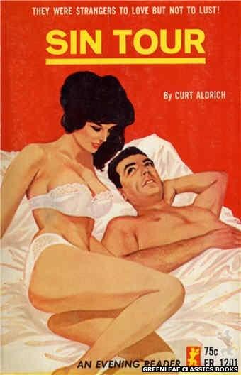 Evening Reader ER1201 - Sin Tour by Curt Aldrich, cover art by Darrel Millsap (1965)