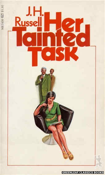 Midnight Reader 1974 MR7430 - Her Tainted Task by J.H. Russell, cover art by Unknown (1974)