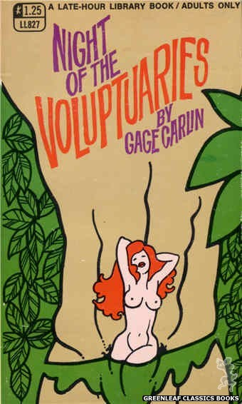 Late-Hour Library LL827 - Night Of The Voluptuaries by Gage Carlin, cover art by Unknown (1969)