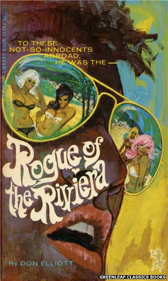 Ember Library EL 362 - Rogue of the Riviera by Don Elliott, cover art by Robert Bonfils (1967)