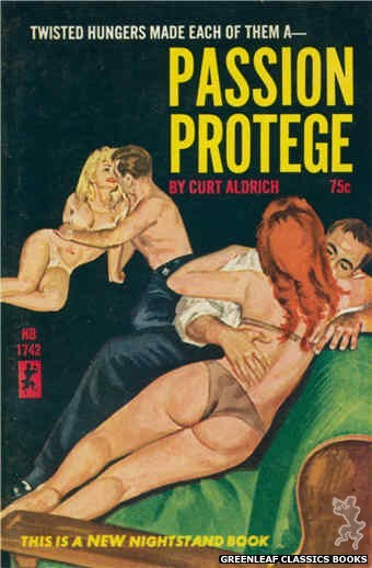 Nightstand Books NB1742 - Passion Protege by Curt Aldrich, cover art by Robert Bonfils (1965)