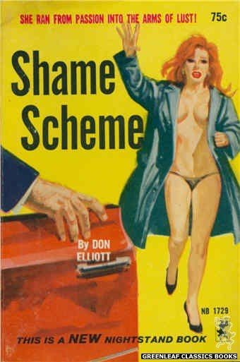Nightstand Books NB1729 - Shame Scheme by Don Elliott, cover art by Unknown (1965)