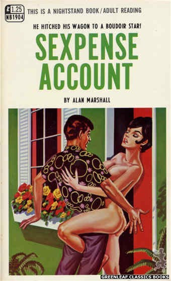 Nightstand Books NB1904 - Sexpense Account by Alan Marshall, cover art by Tomas Cannizarro (1968)