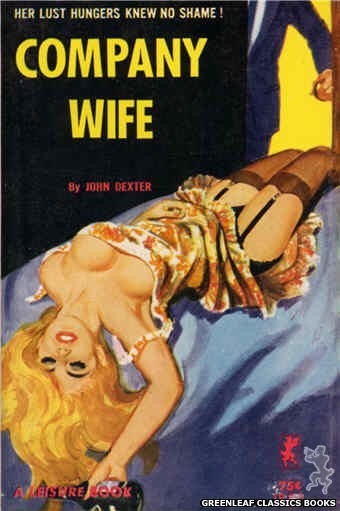 Leisure Books LB659 - Company Wife by John Dexter, cover art by Robert Bonfils (1964)