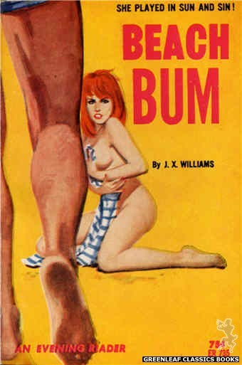 Evening Reader ER735 - Beach Bum by J.X. Williams, cover art by Unknown (1964)