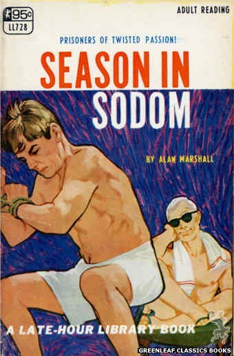 Late-Hour Library LL728 - Season In Sodom by Alan Marshall, cover art by Darrel Millsap (1967)