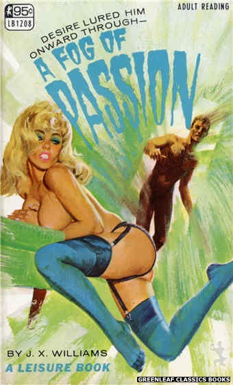Leisure Books LB1208 - A Fog Of Passion by J.X. Williams, cover art by Robert Bonfils (1967)