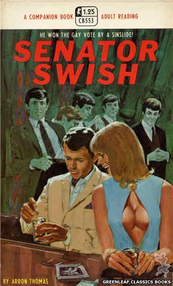 Companion Books CB553 - Senator Swish by Aaron Thomas, cover art by Darrel Millsap (1968)
