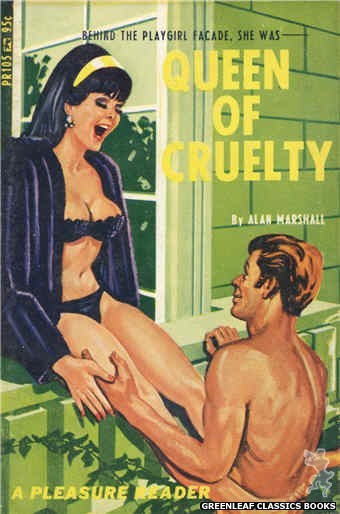 Pleasure Reader PR105 - Queen Of Cruelty by Alan Marshall, cover art by Tomas Cannizarro (1967)