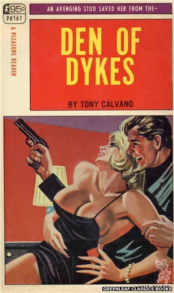 Pleasure Reader PR161 - Den Of Dykes by Tony Calvano, cover art by Tomas Cannizarro (1968)