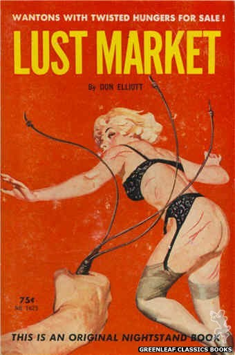 Nightstand Books NB1625 - Lust Market by Don Elliott, cover art by Harold W. McCauley (1962)