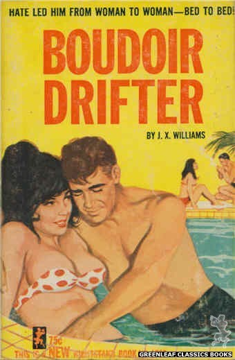 Nightstand Books NB1766 - Boudoir Drifter by J.X. Williams, cover art by Unknown (1965)