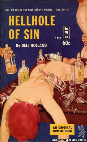 Bedside Books BB 1223 - Hellhole of Sin by Dell Holland, cover art by Harold W. McCauley (1962)