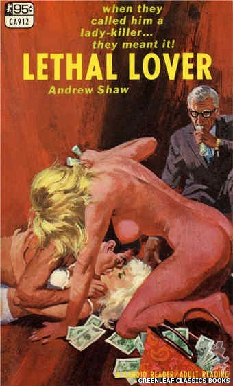 Candid Reader CA912 - Lethal Lover by Andrew Shaw, cover art by Robert Bonfils (1967)