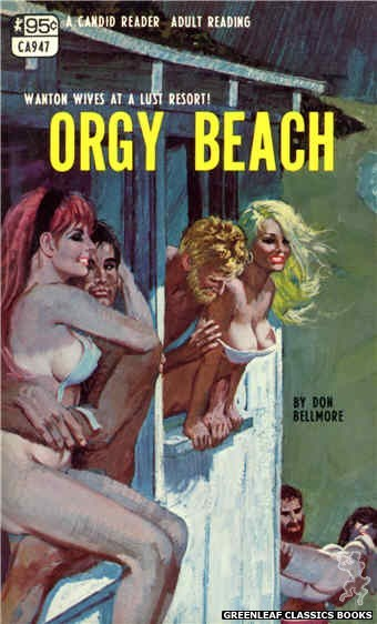 Candid Reader CA947 - Orgy Beach by Don Bellmore, cover art by Robert Bonfils (1968)