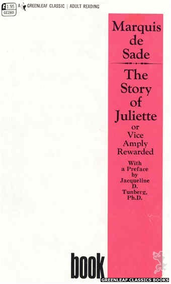 Greenleaf Classics GC280 - The Story of Juliette Book I by Marquis de Sade, cover art by Text Only (1968)