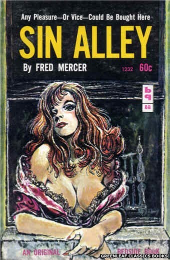 Bedside Books BB 1232 - Sin Alley by Fred Mercer, cover art by Unknown (1962)