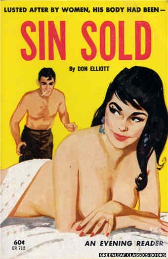 Evening Reader ER712 - Sin Sold by Don Elliott, cover art by Unknown (1963)