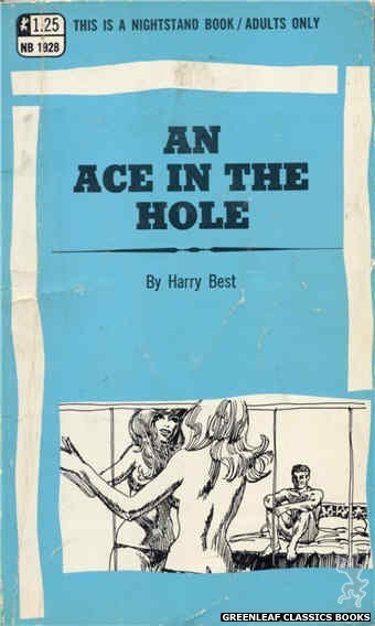 Nightstand Books NB1928 - An Ace In the Hole by Harry Best, cover art by Harry Bremner (1969)