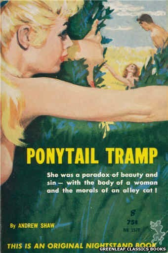 Nightstand Books NB1578 - Ponytail Tramp by Andrew Shaw, cover art by Harold W. McCauley (1961)