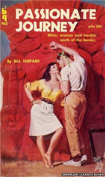 Bedside Books BTB 965 - Passionate Journey by Bill Shepard, cover art by Duillo (1960)