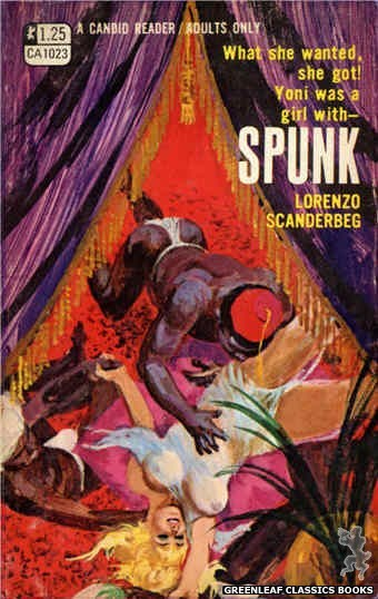 Candid Reader CA1023 - Spunk by Lorenzo Scanderbeg, cover art by Ed Smith (1970)