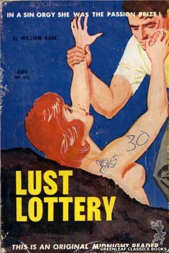 Midnight Reader 1961 MR453 - Lust Lottery by William Kane, cover art by Unknown (1962)